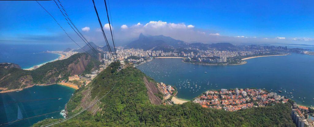Panorama vom Zuckerhut Rio de Janeiro