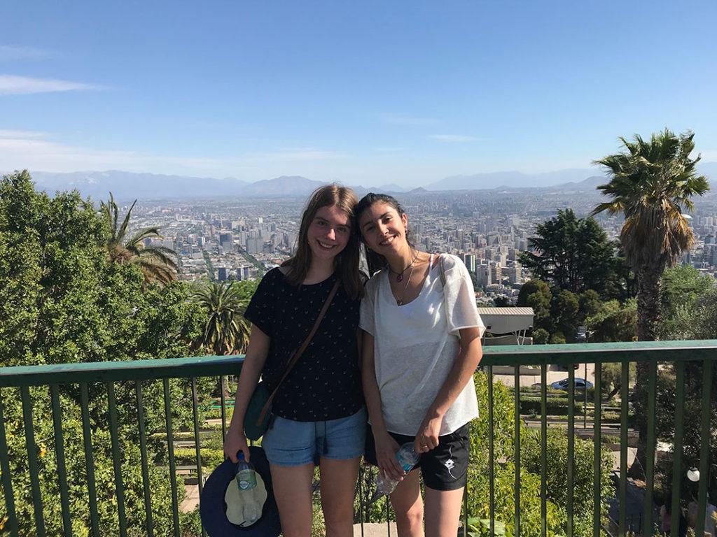 Alma und Karla in Santiago de Chile