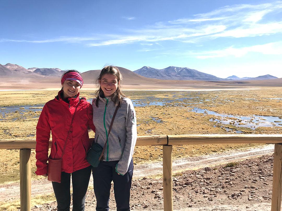 Alma und Josi in San Pedro de Atacama Chile