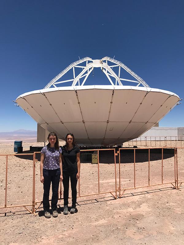 Alma und Josi im ALMA Observatory Atacama Chile