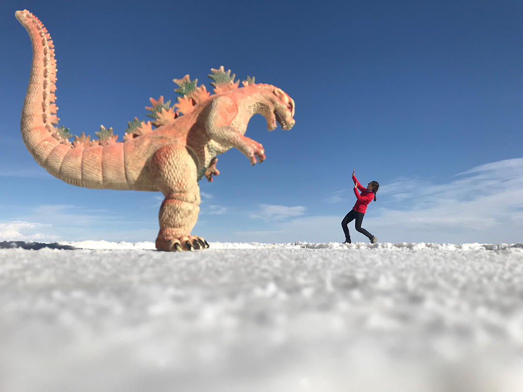Josi in der Salar de Uyuni Bolivien