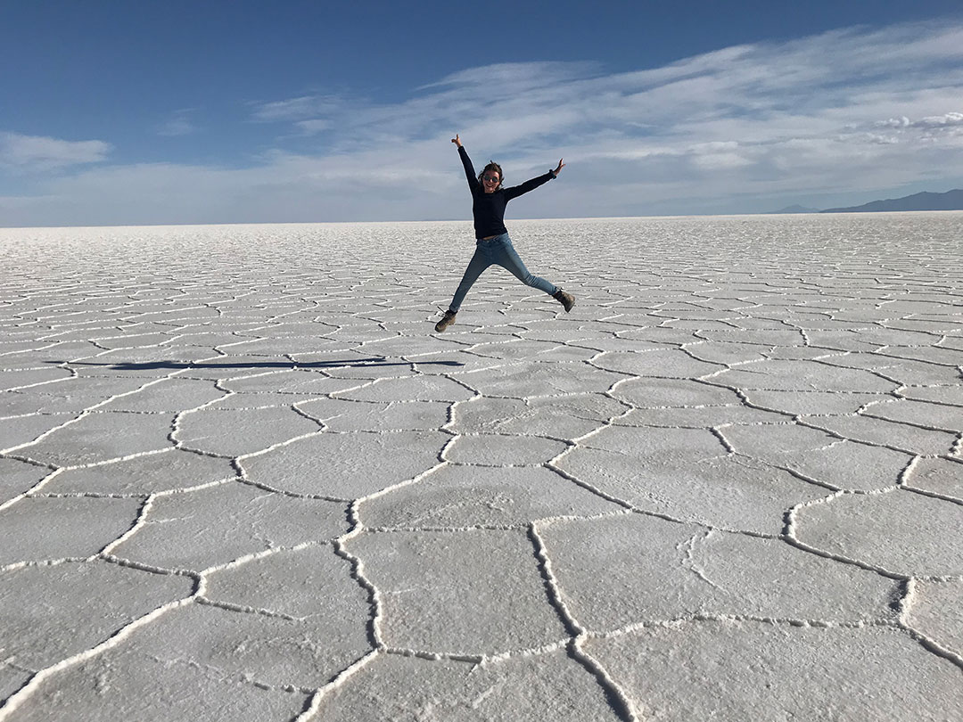 Alma in der Salar de Uyuni Bolivien