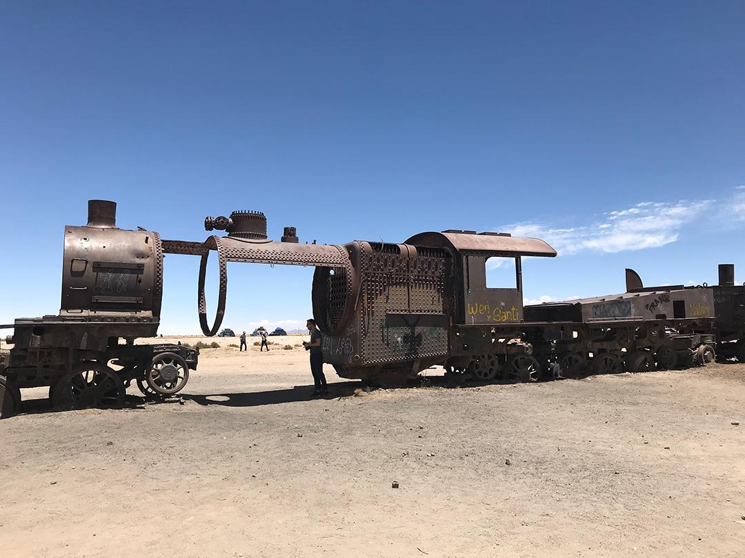 Zugfriedhof von Uyuni Bolivien