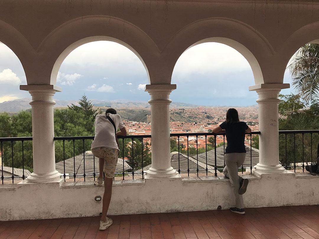 Josie und Oliver in Sucre Bolivien